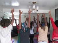 FSWs and Yoga session in Drop in Centers